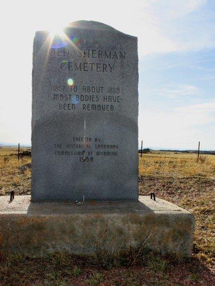 Sherman Cemetery marker 2