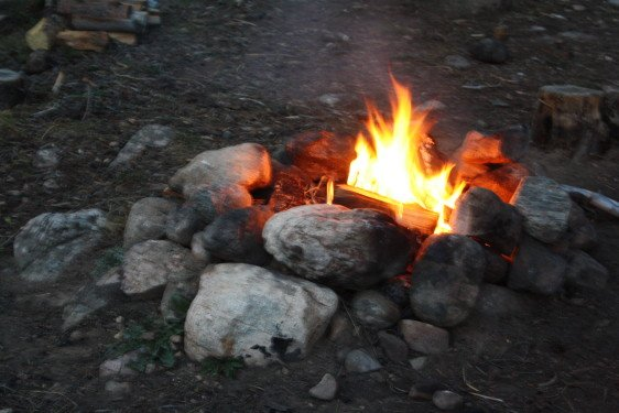 Our campfire at Roosevelt National Forest, September 2015
