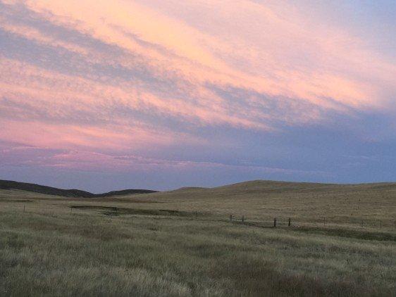 Sunset over Belvoir Ranch
